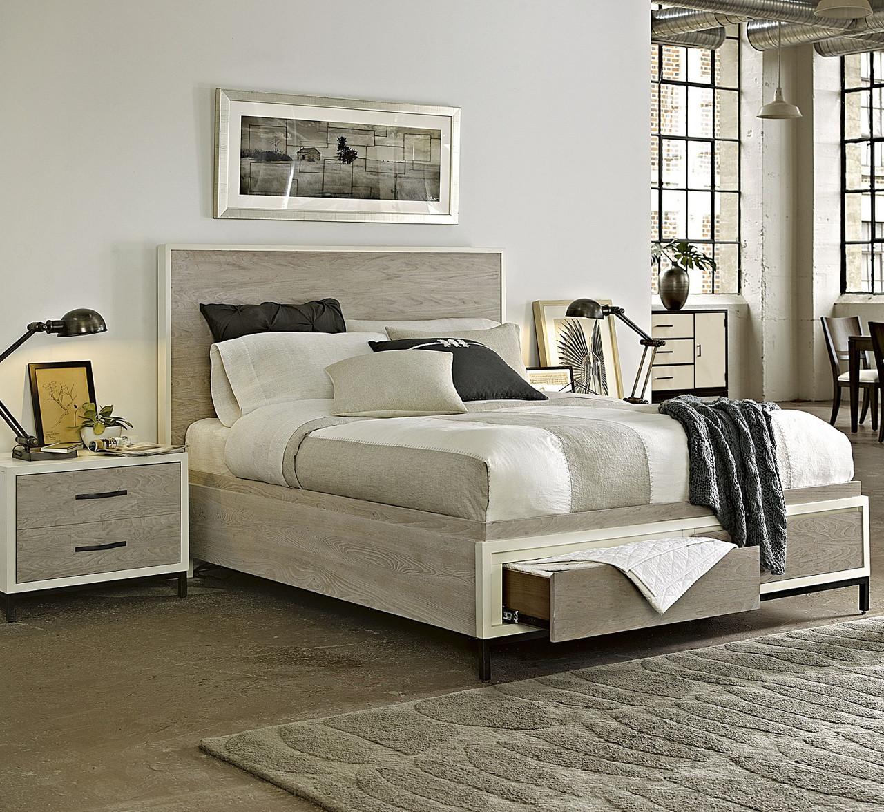 Modern Gray Platform Storage Bedroom Set - King | Zin Home