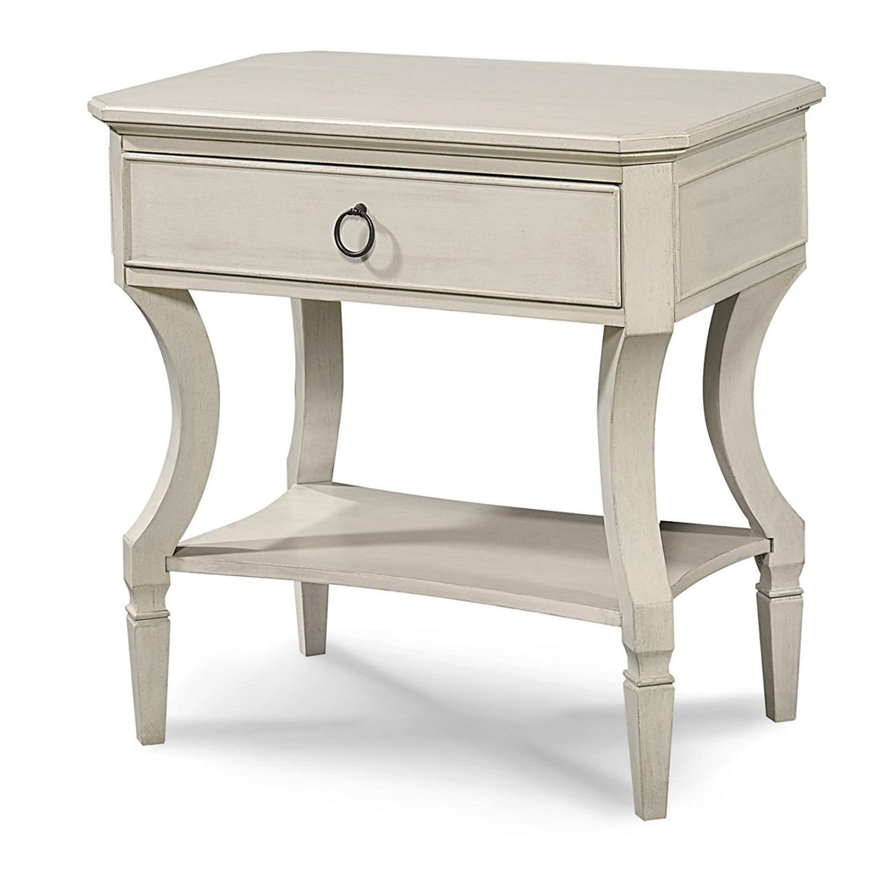 Tremendous Country Chic Maple Wood 1 Drawer Bedside Table White Uwap Interior Chair Design Uwaporg
