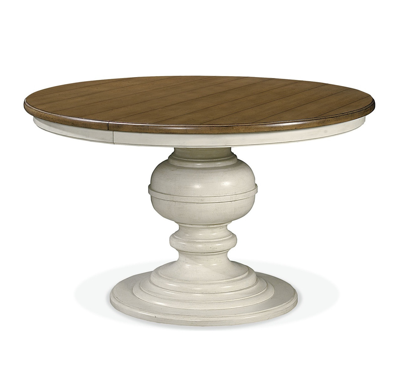 Country Chic Maple Wood White Round Extendable Dining Table Zin Home