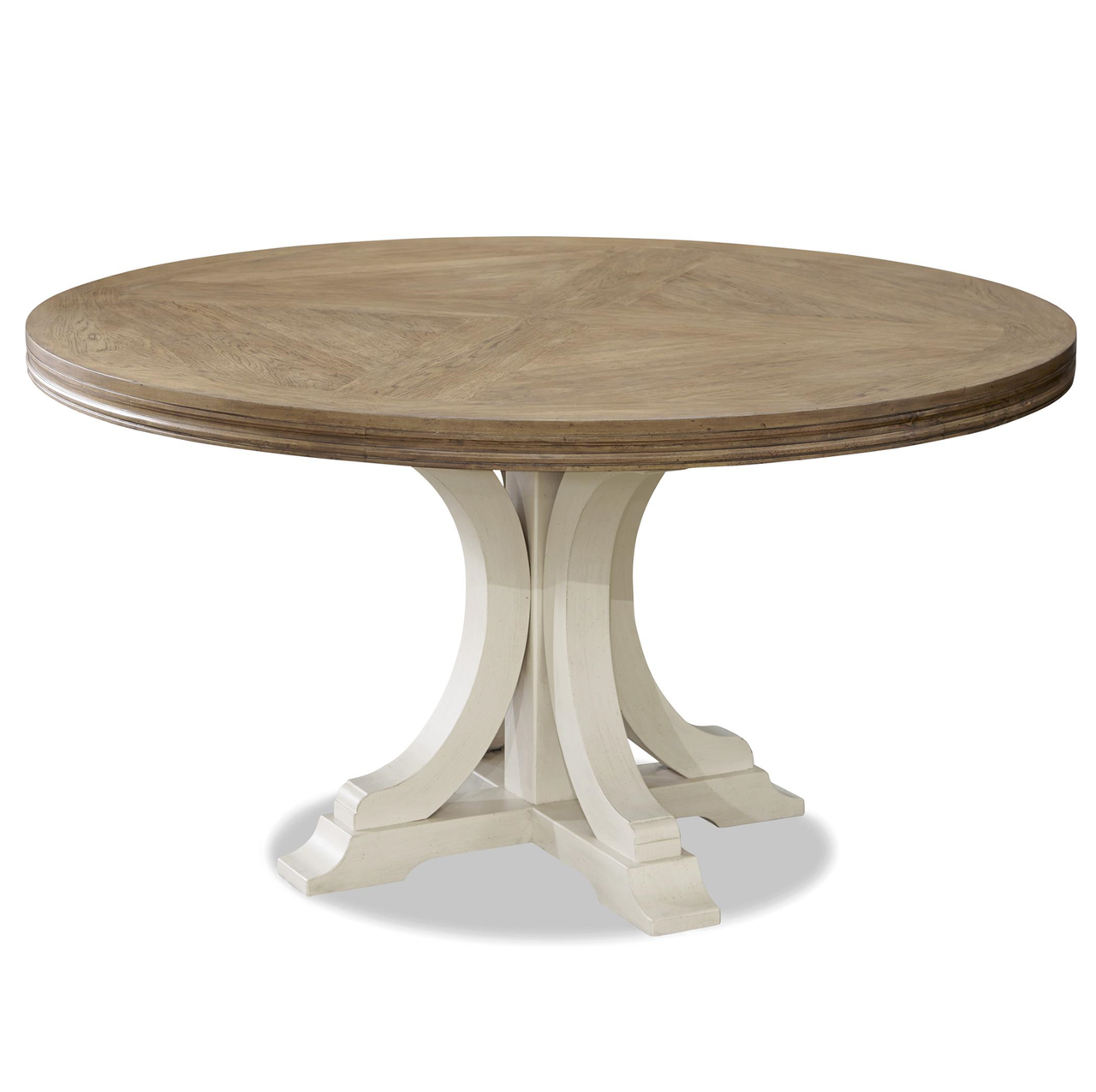 White Wood Dining Table: French Modern White Wood Pedestal Round Dining Table 58