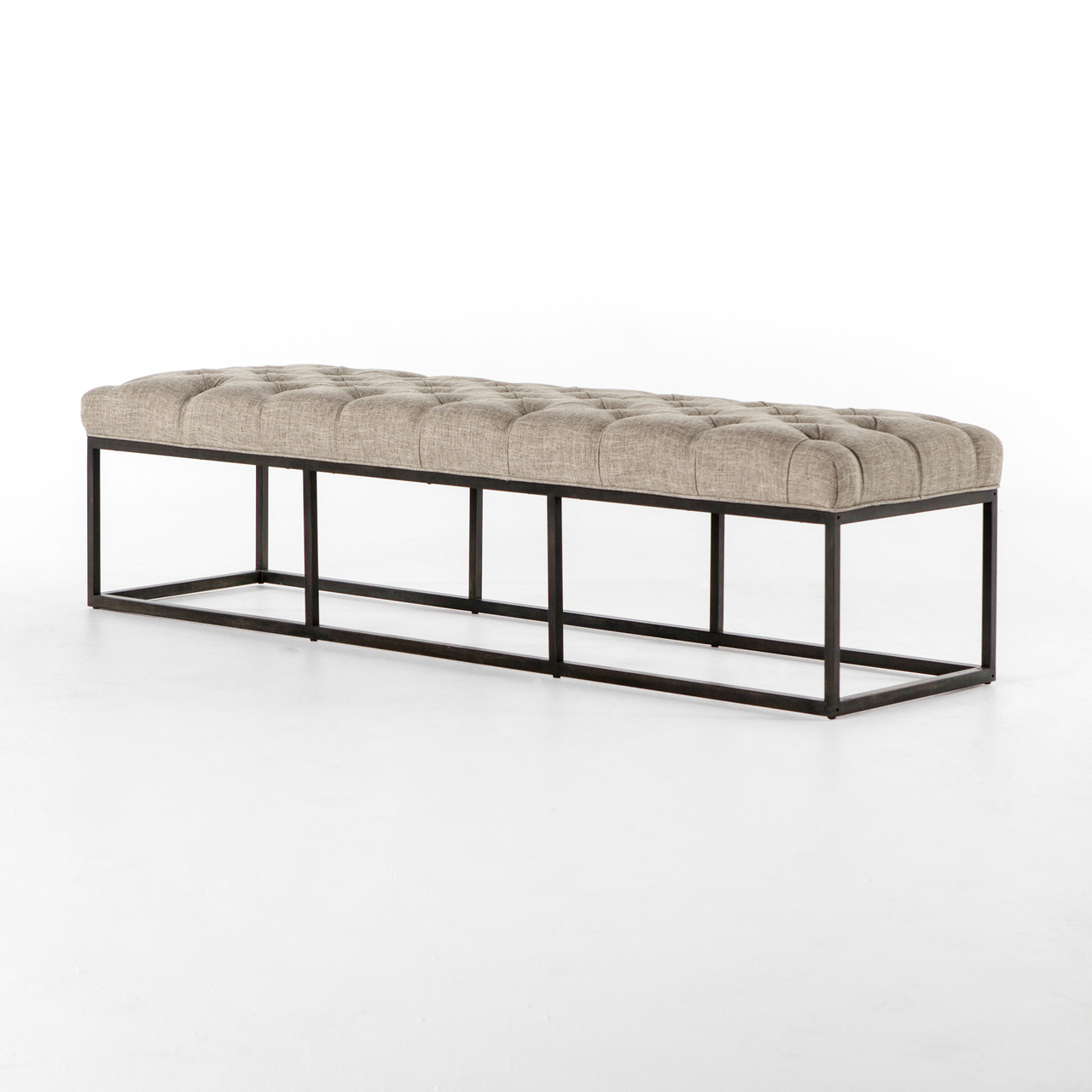 Fabulous Bordeaux Industrial Metal Upholstered Dining Bench 72 Onthecornerstone Fun Painted Chair Ideas Images Onthecornerstoneorg