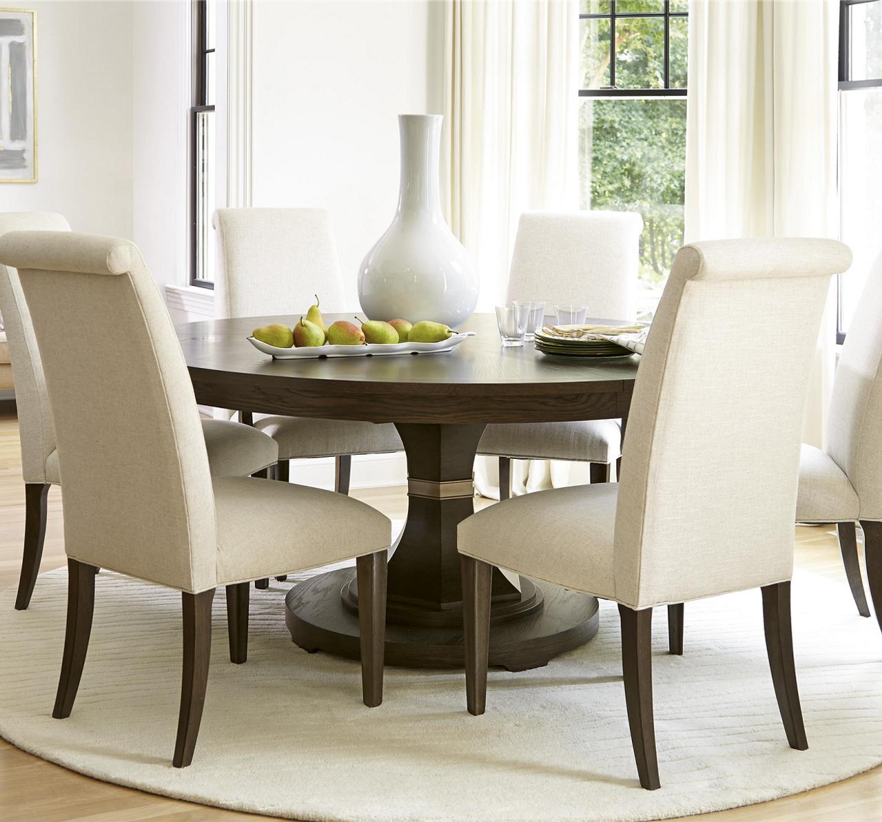 California Rustic Oak 7 Piece Round Dining Room Set Zin Home