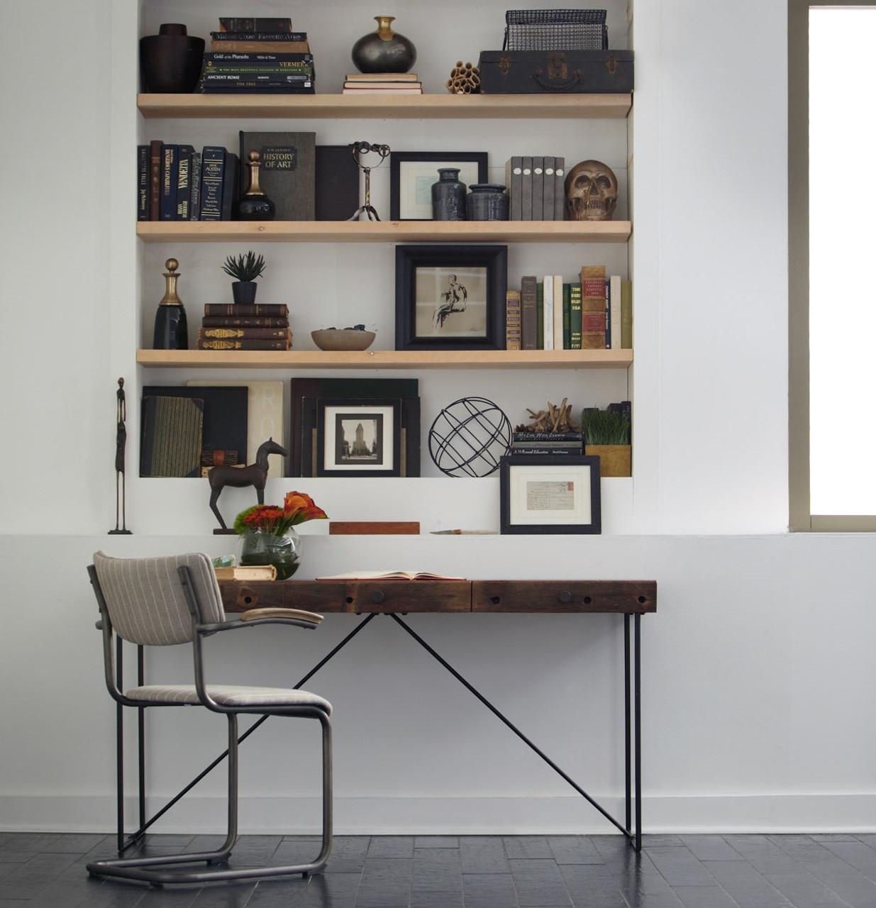 Industrial modern wood office desk previous next