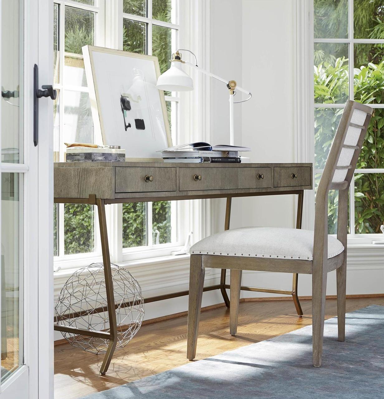 Playlist Vintage Oak 3 Drawers Writing Desk Zin Home