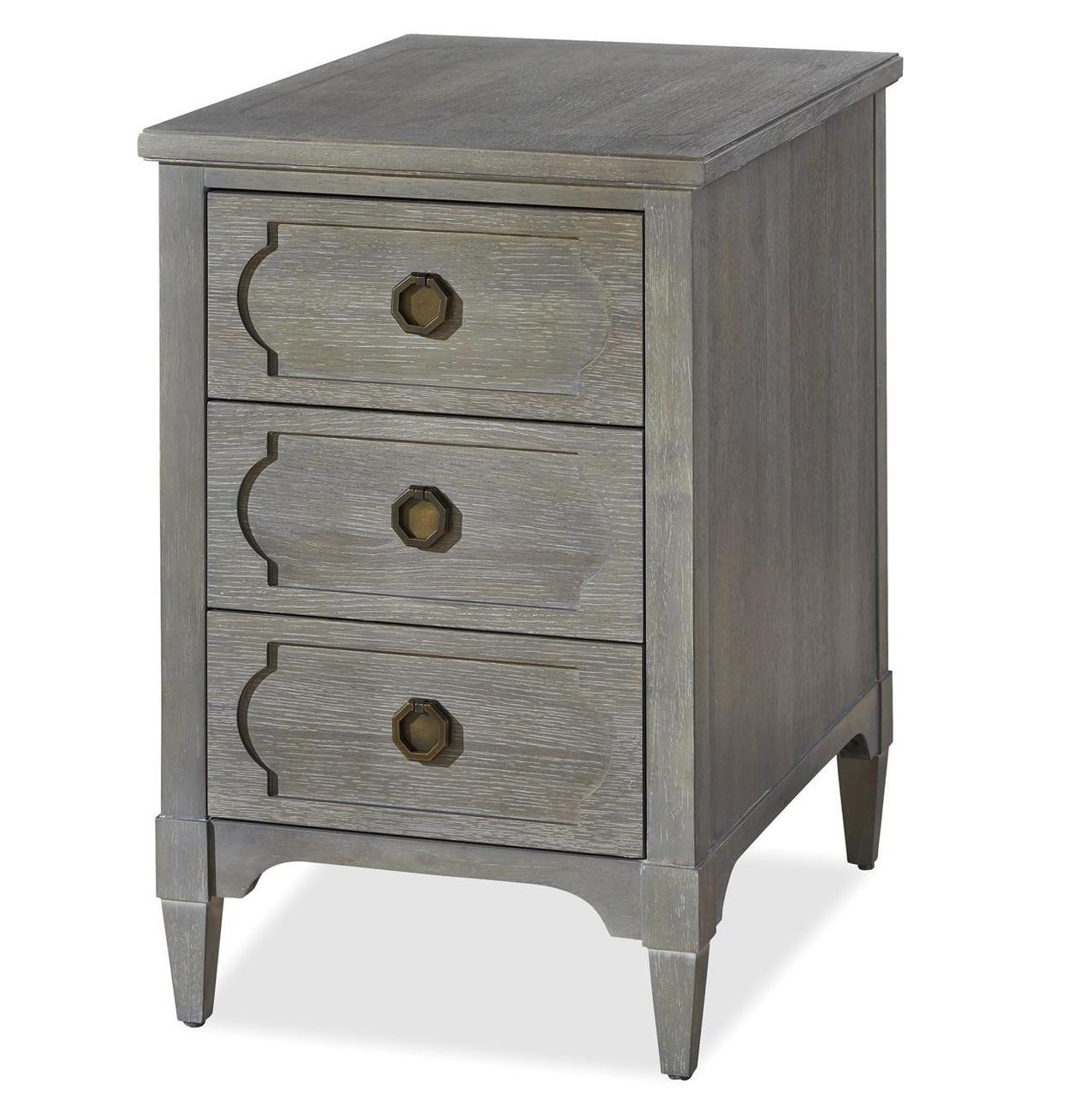 Playlist Vintage Grey Oak 3 Drawers Side Table Zin Home