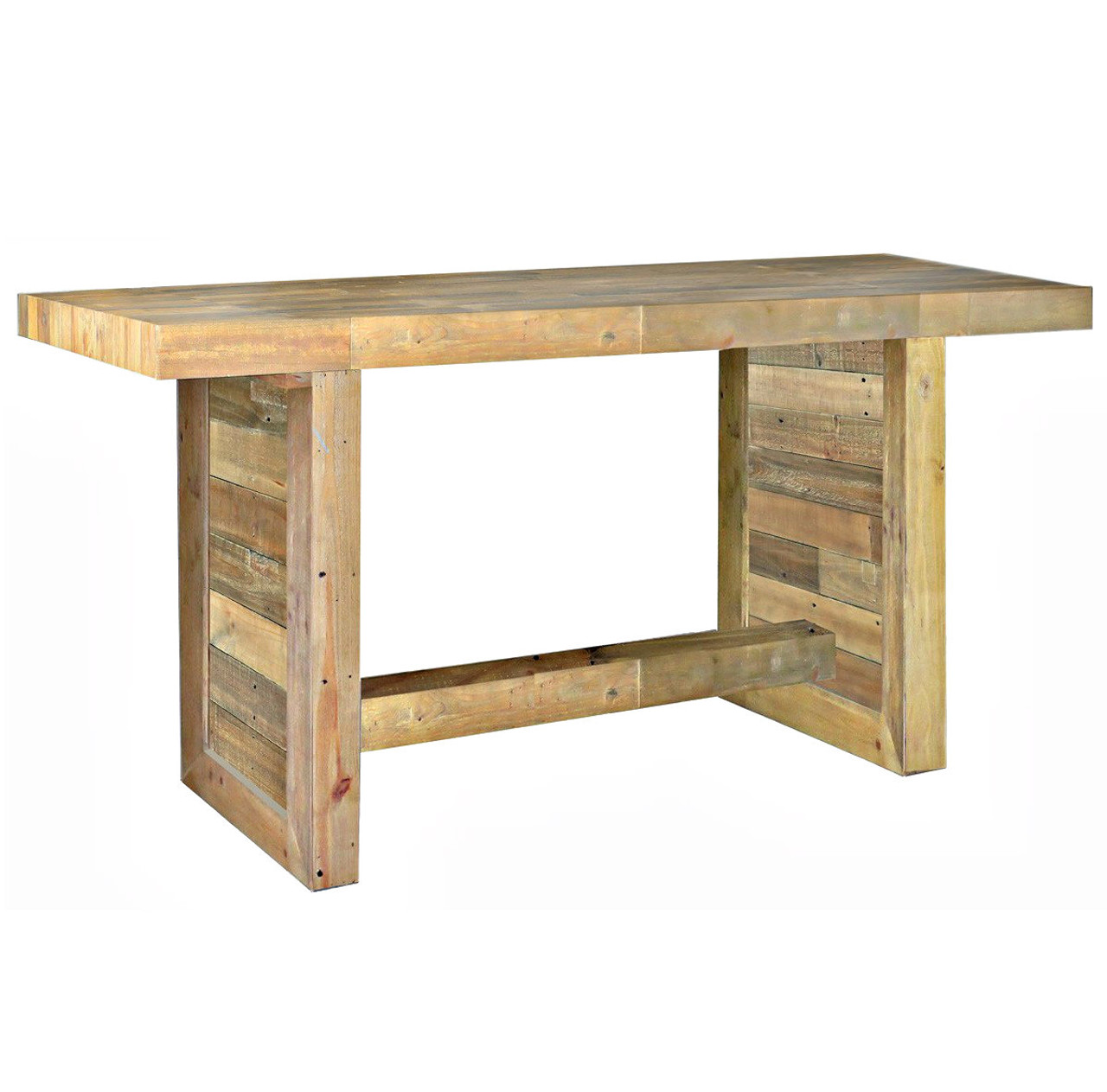 Angora Natural Reclaimed Wood Counter Height Dining Table Zin Home