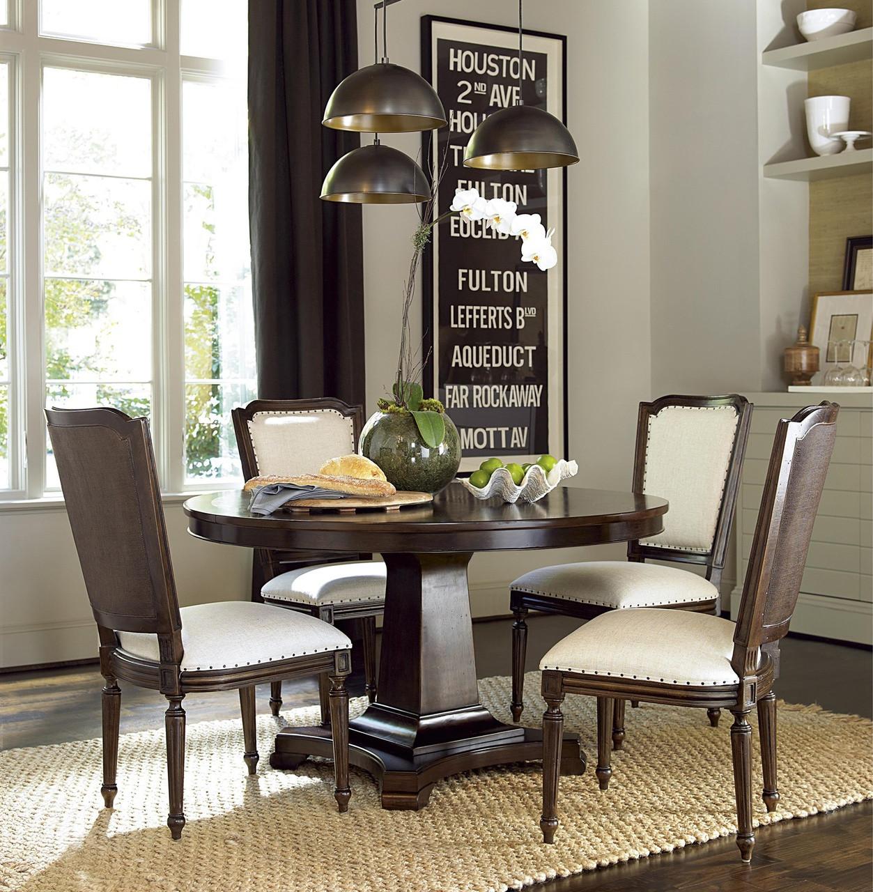 Astonishing Proximity Cherry Wood 5 Piece Round Dining Room Set Home Interior And Landscaping Transignezvosmurscom