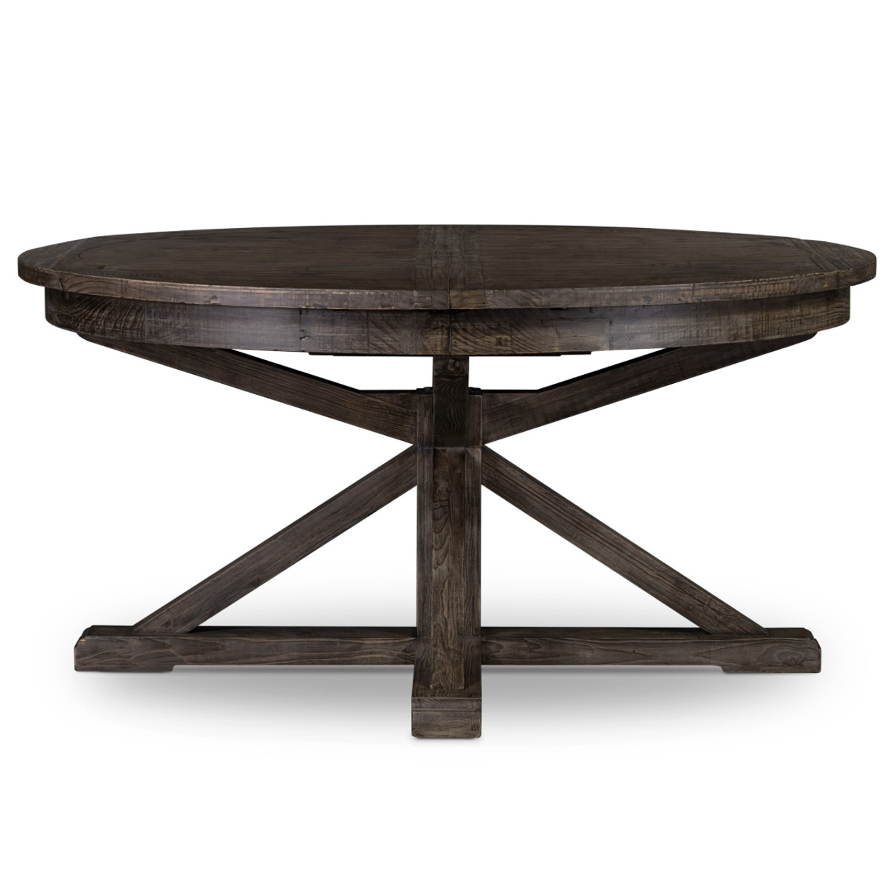 Cintra Reclaimed Wood Extending Round Dining Table 63 Gray Zin Home