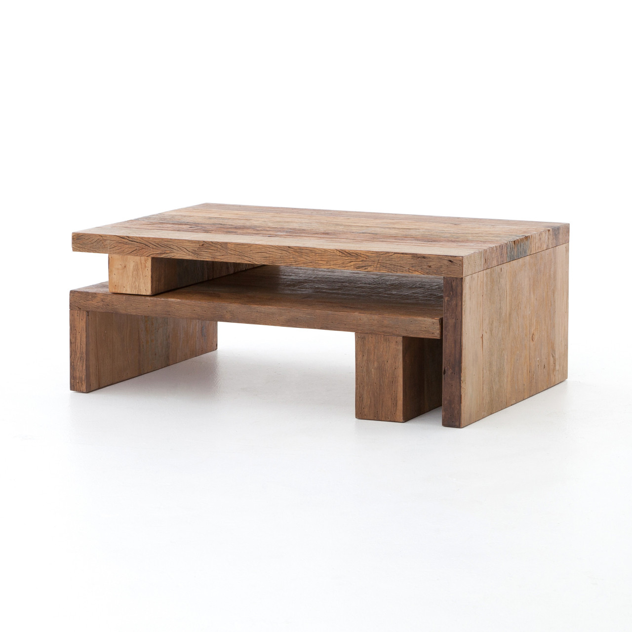 Awe Inspiring Ferris Reclaimed Wood Modular Nesting Coffee Table Alphanode Cool Chair Designs And Ideas Alphanodeonline