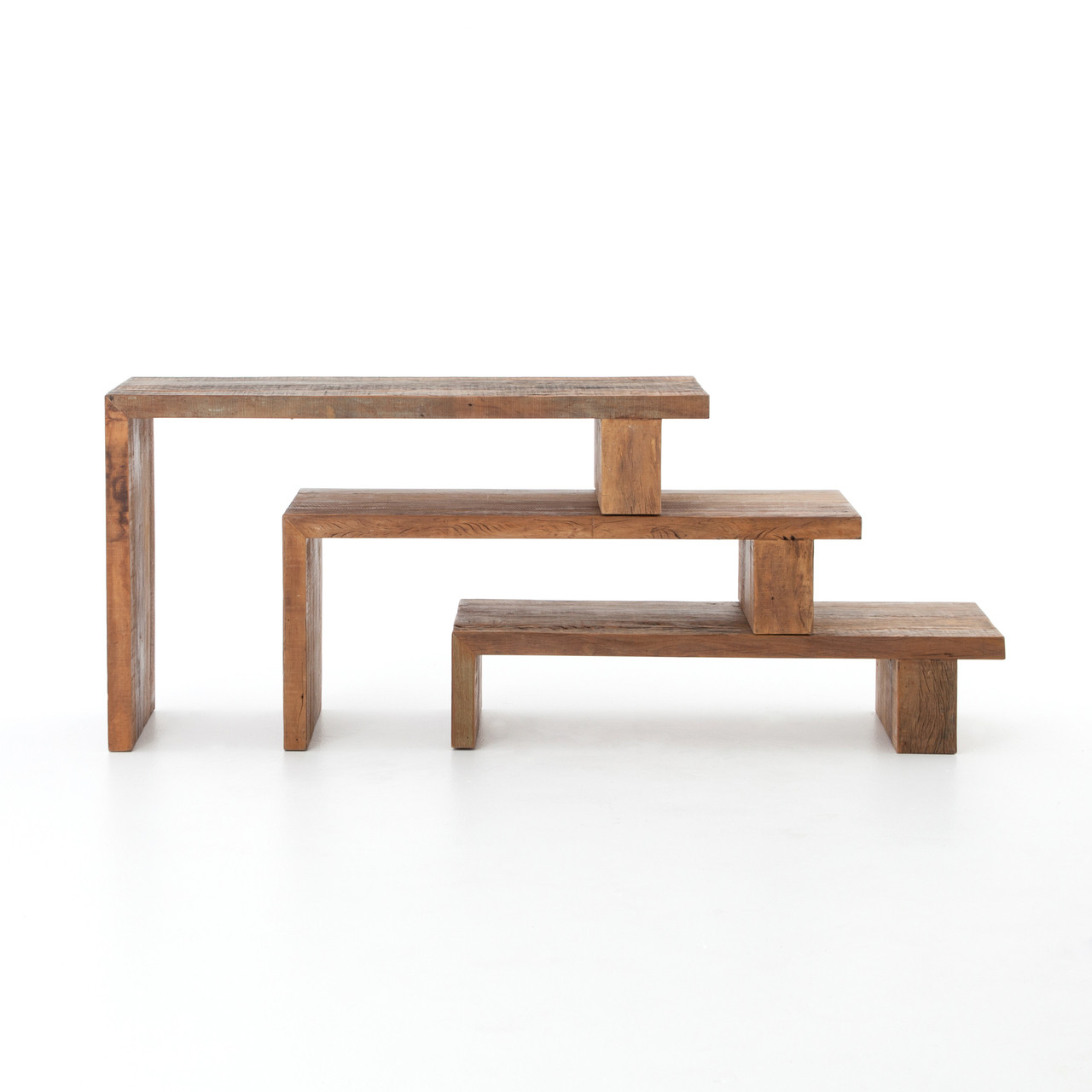 Awesome Ferris Reclaimed Wood Modular Nesting Console Table Short Links Chair Design For Home Short Linksinfo