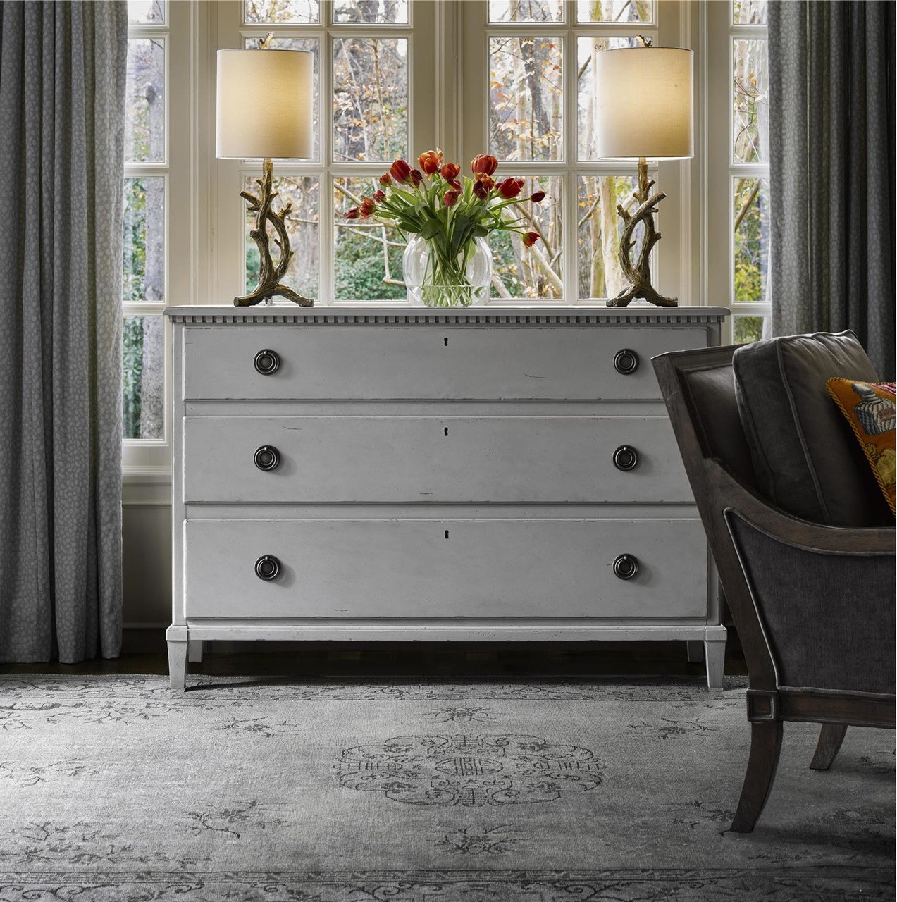 Sojourn french country 9 drawer gray dresser gray