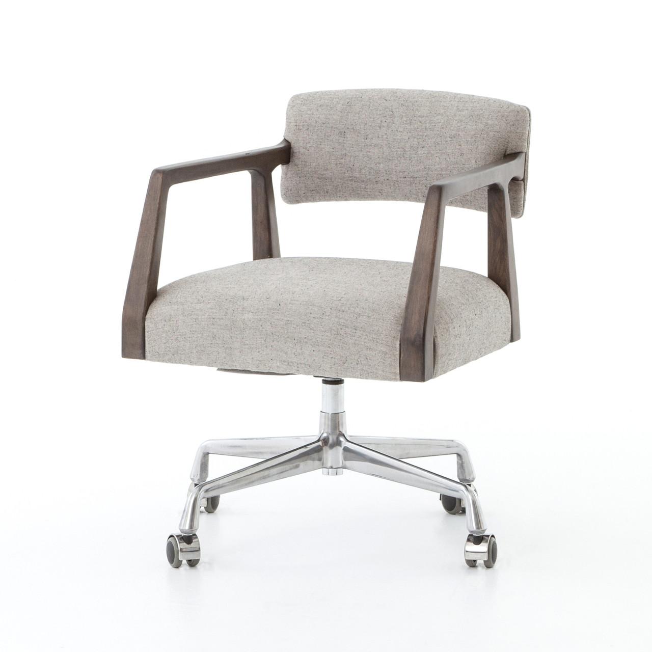 Marvelous Tyler Mid Century Modern Upholstered Office Desk Chair Download Free Architecture Designs Scobabritishbridgeorg
