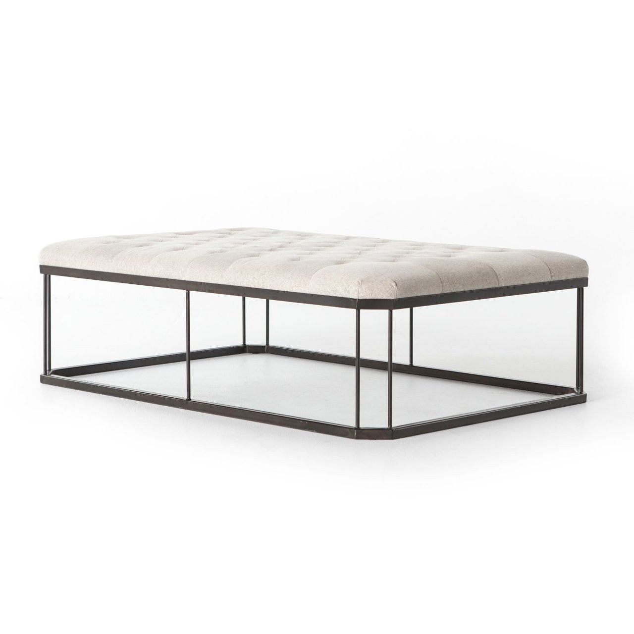 - Isle Tufted Upholstered Cocktail Ottoman Zin Home