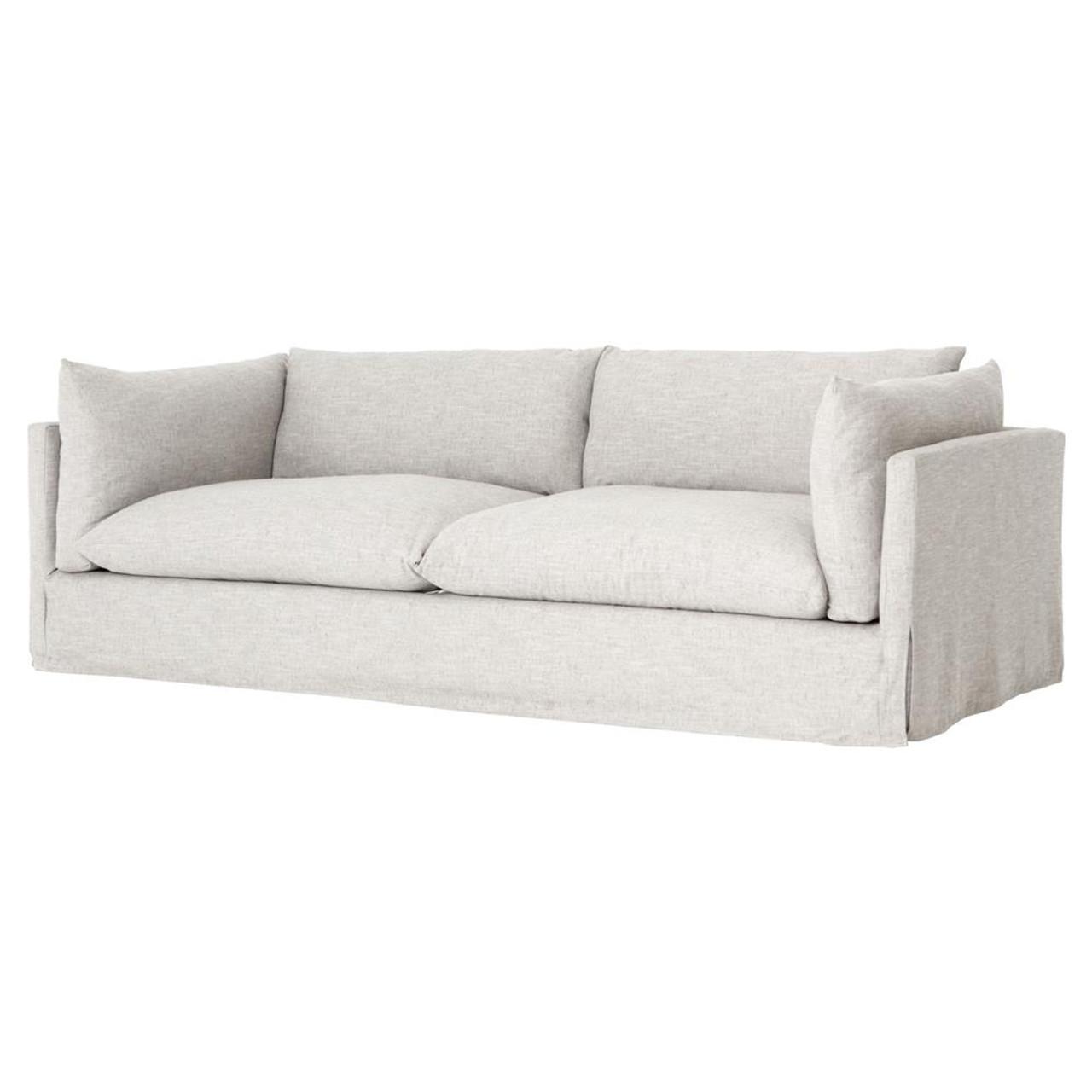 loft modern beige slipcovered lounge sofa 90 zin home rh zinhome com modern chaise lounge sofa bed montauk modern lounge sofa