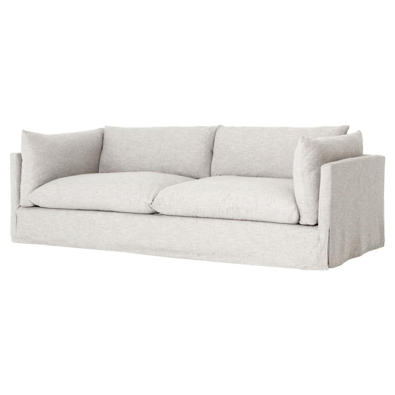 "Loft Modern Beige Slipcovered Lounge Sofa 5"""
