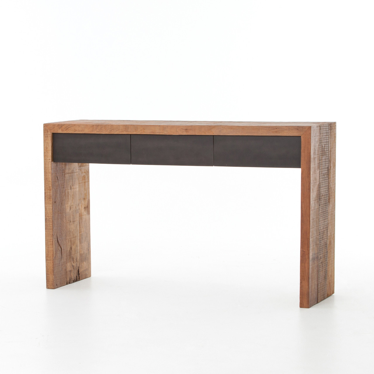 Astounding Tylor Reclaimed Peroba Wood 3 Drawer Console Table Interior Design Ideas Oxytryabchikinfo