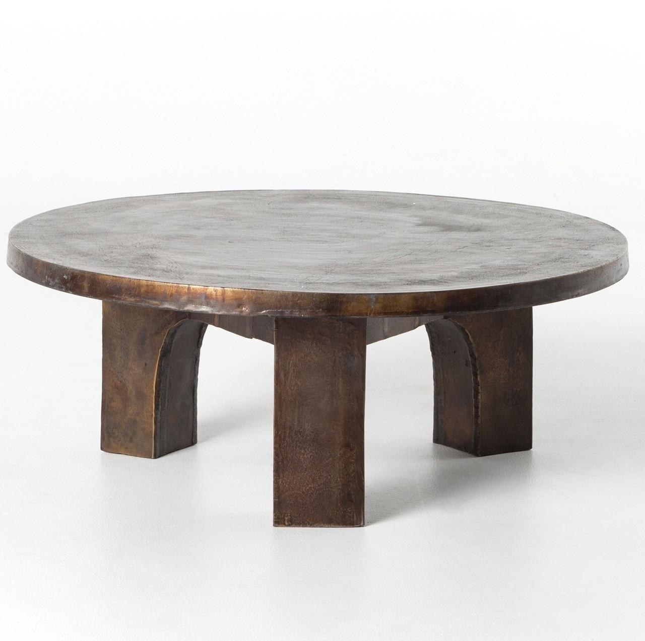 Cruz Round Outdoor Coffee Table Antique Rust Zin Home