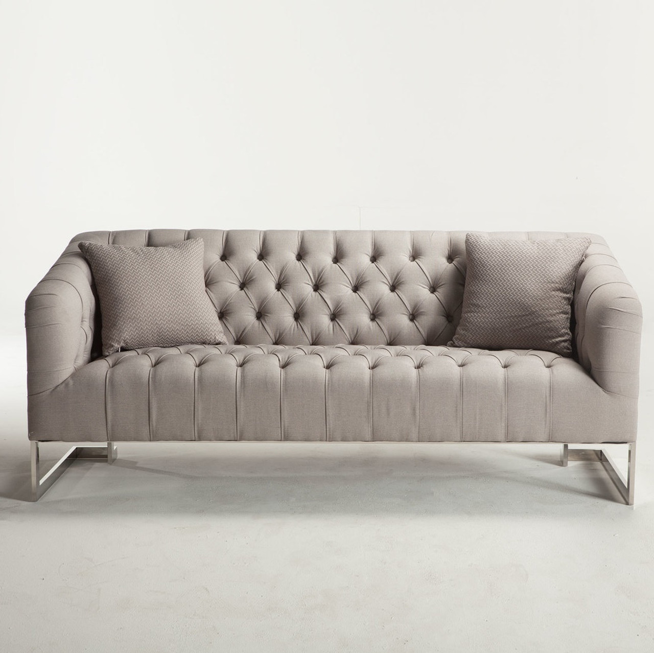 Austin Modern Tufted Sofa Grey Zin Home