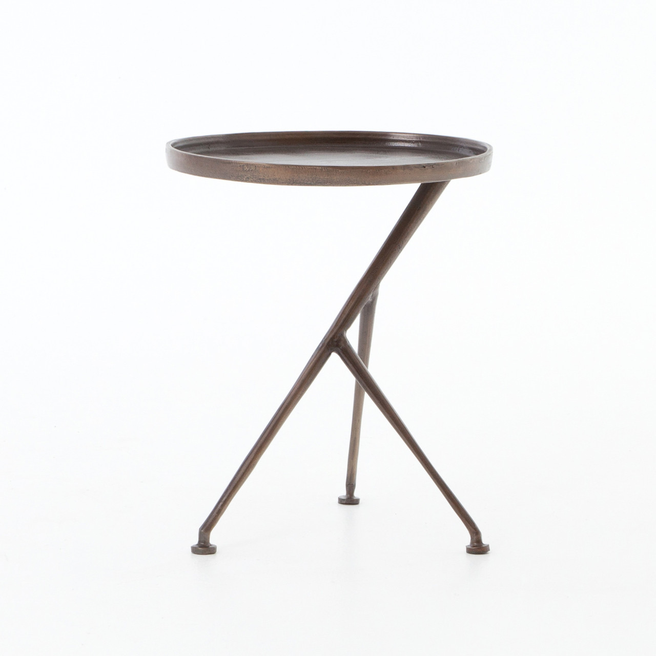 - Schmidt Aluminum Tripod Accent Table Zin Home