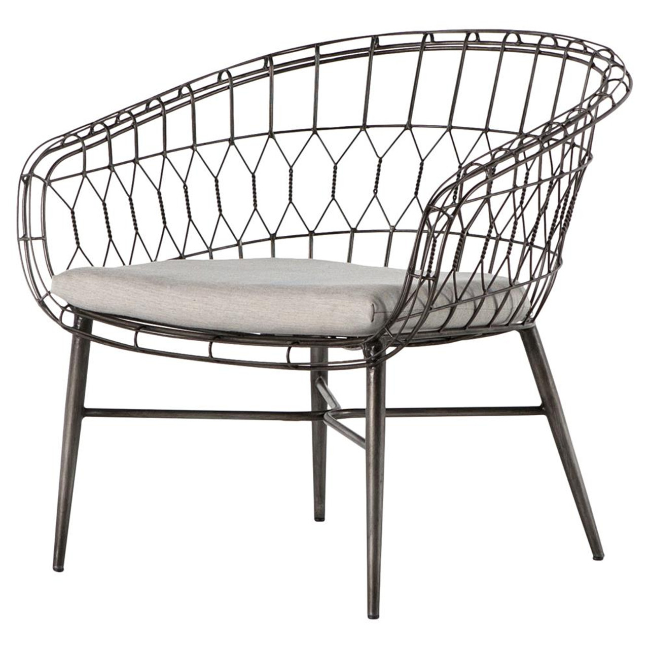 Pleasing Tubman Rounded Iron Rattan Outdoor Lounge Chair Alphanode Cool Chair Designs And Ideas Alphanodeonline