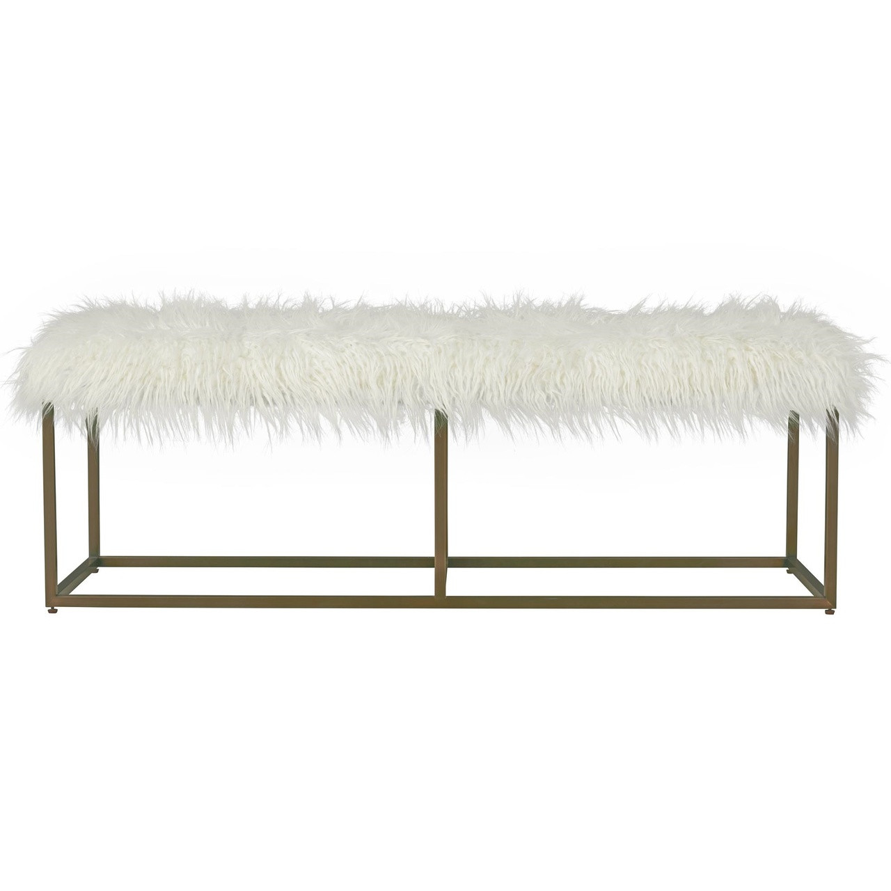 Brilliant Modern Hollywood Regency White Alpaca Fur Bench Squirreltailoven Fun Painted Chair Ideas Images Squirreltailovenorg
