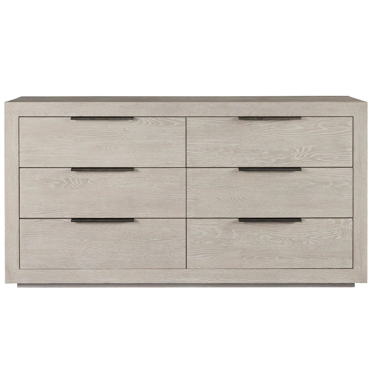 finest selection a3f24 59e9a Modern Grey Oak Huston 6 Drawer Dresser 70