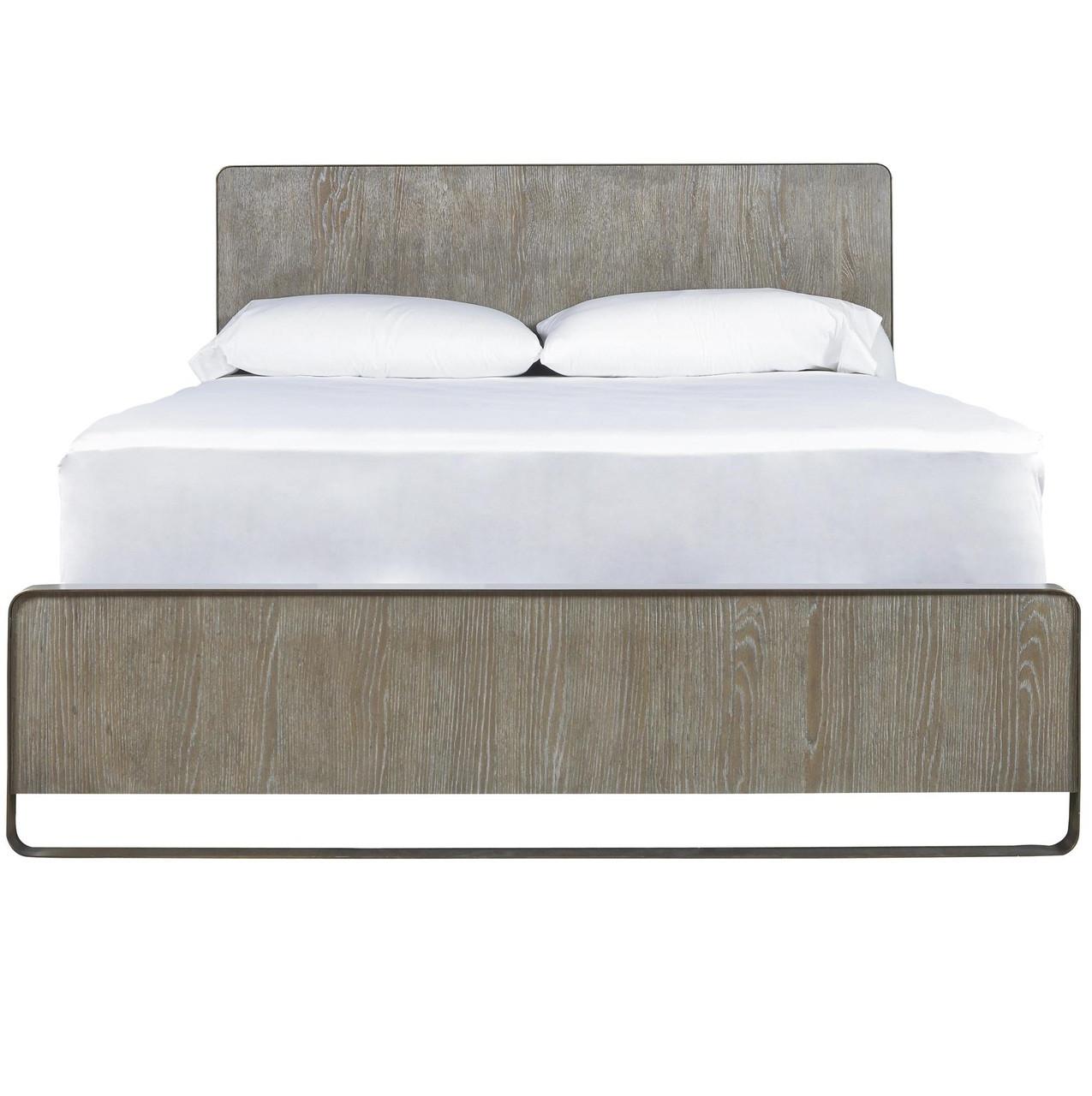 Wilshire Modern Oak Wood And Metal Platform Bed Frames