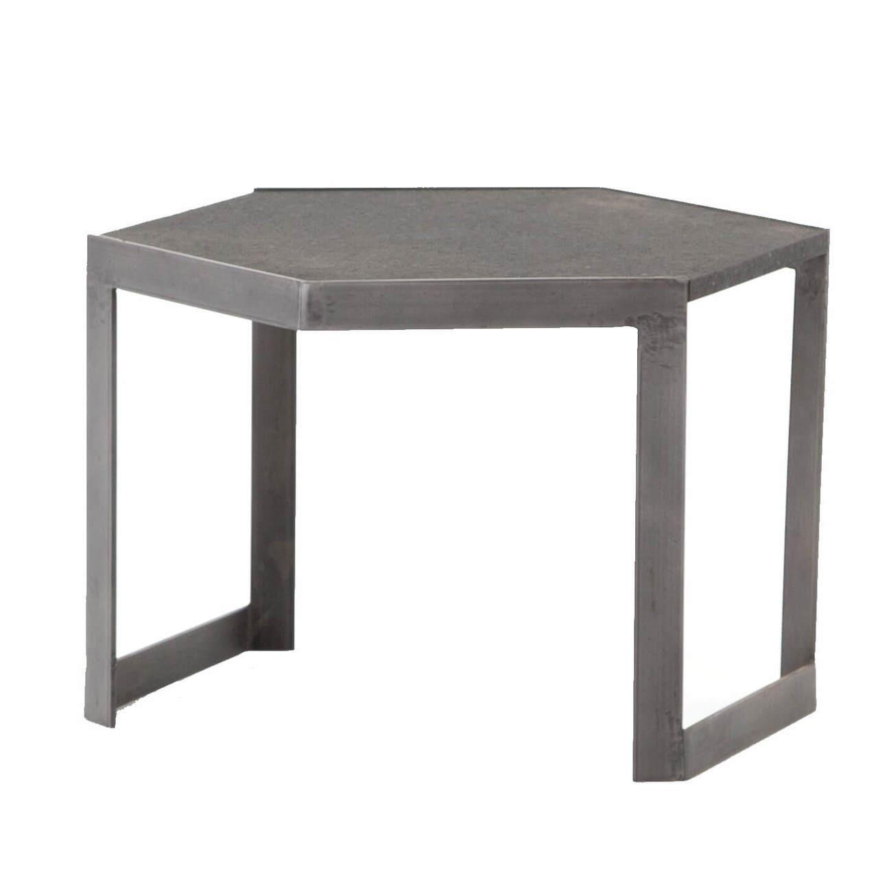 Clint Iron + Granite Top Hexagonal Bunching Coffee Table