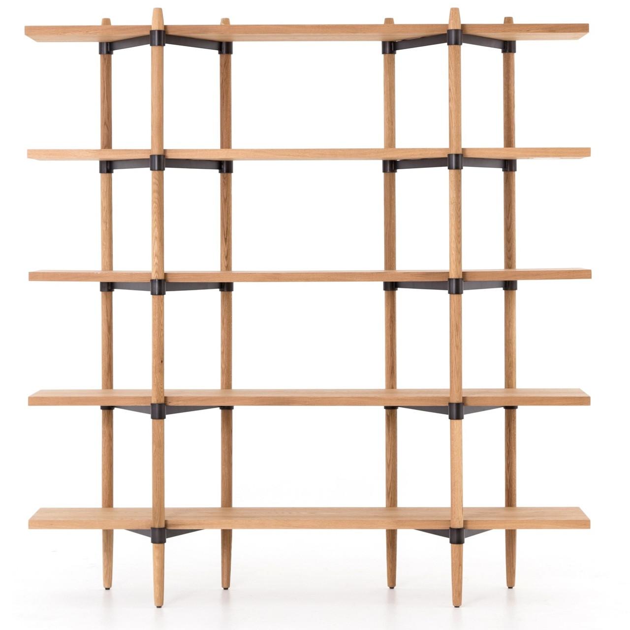 Image of: Danish Mid Century Modern Drift Oak Bookcase Zin Home