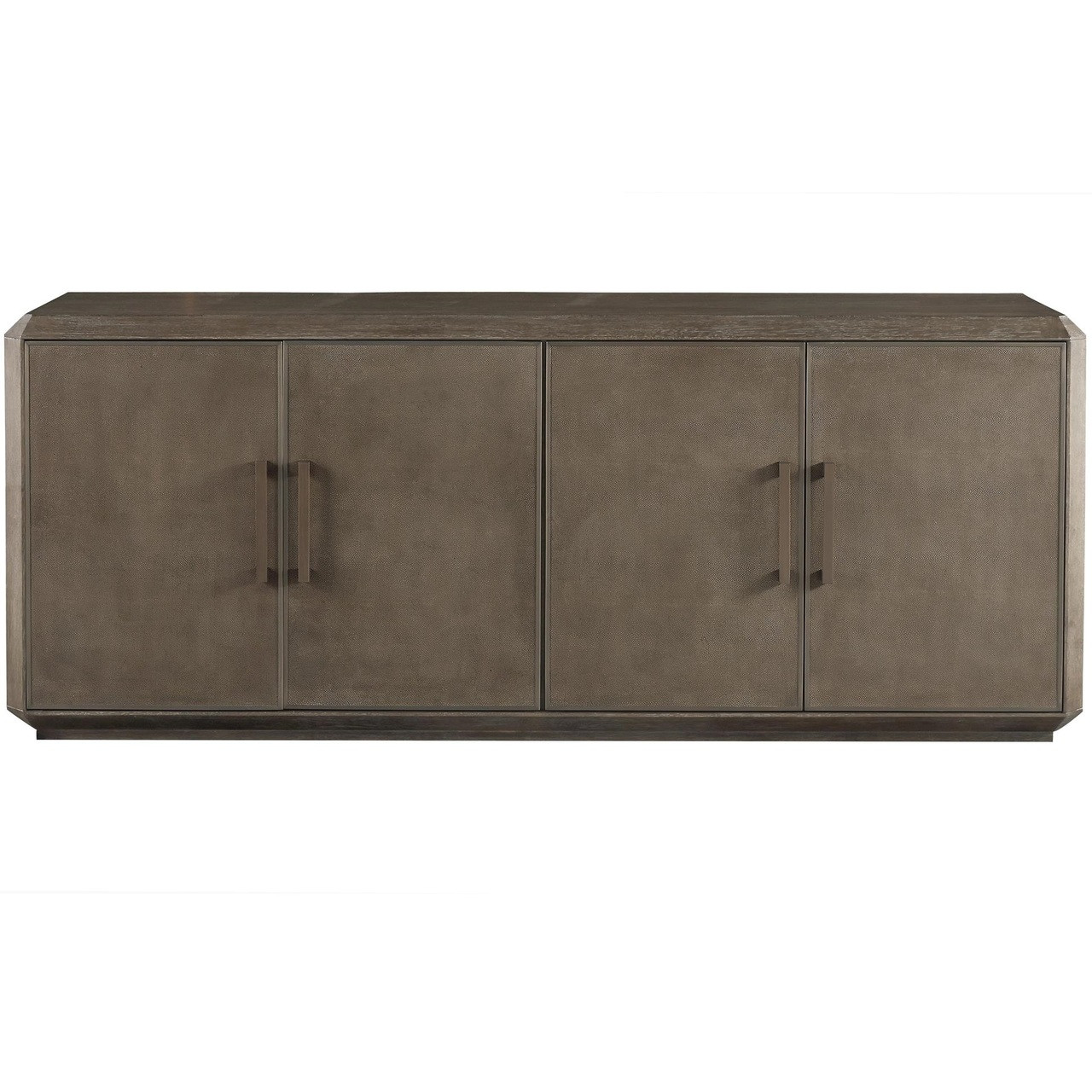 Portobello Modern Shagreen Panel 4-Door Credenza Sideboard on consoles and credenzas, made in usa modern credenzas, modern sideboards with sliding door, country style credenzas, industrial modern credenzas, post modern credenzas, modern sideboards and hutches,