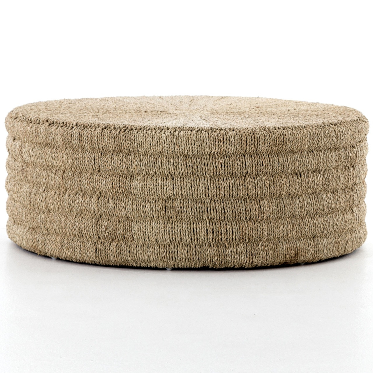 - Pascal Woven Round Coffee Table Ottoman Zin Home