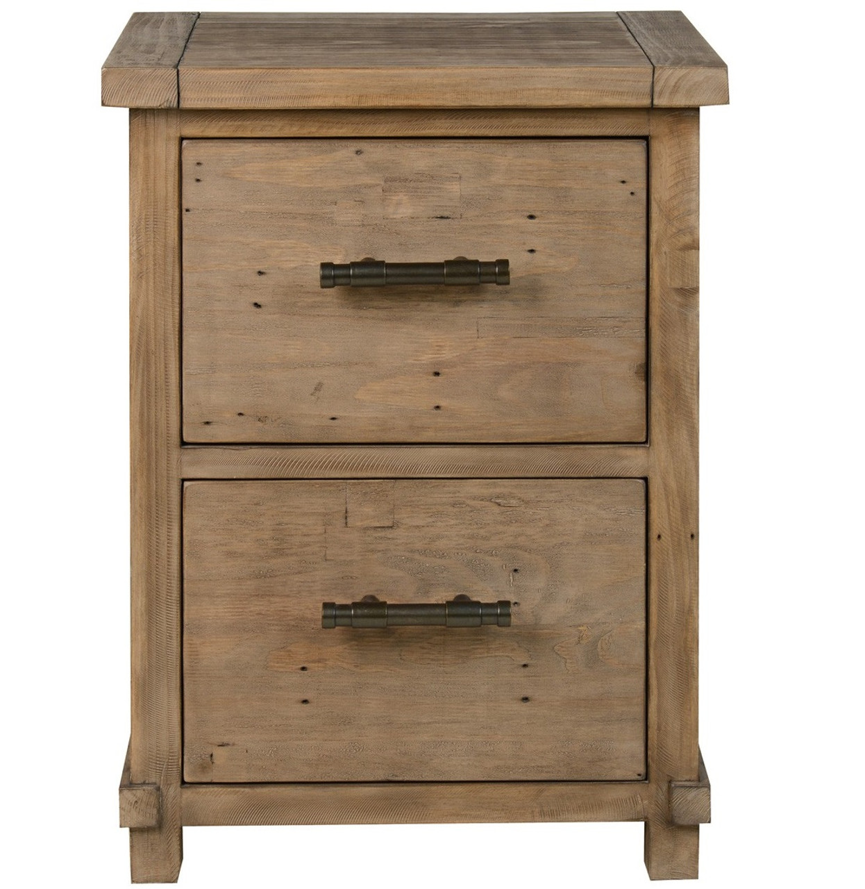 low priced 4c5ba 8dd38 Farmhouse Reclaimed Wood 2 Drawer Filing Cabinet