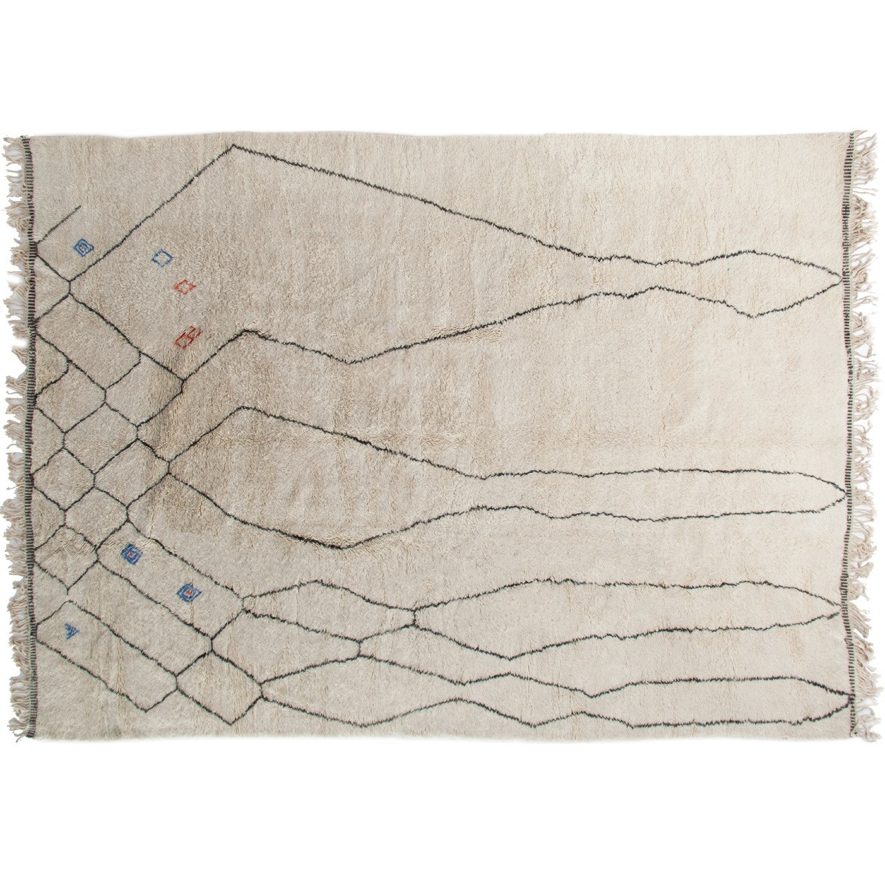 Chalice Hand Knotted Moroccan Berber Area Rug Ivory Zin Home