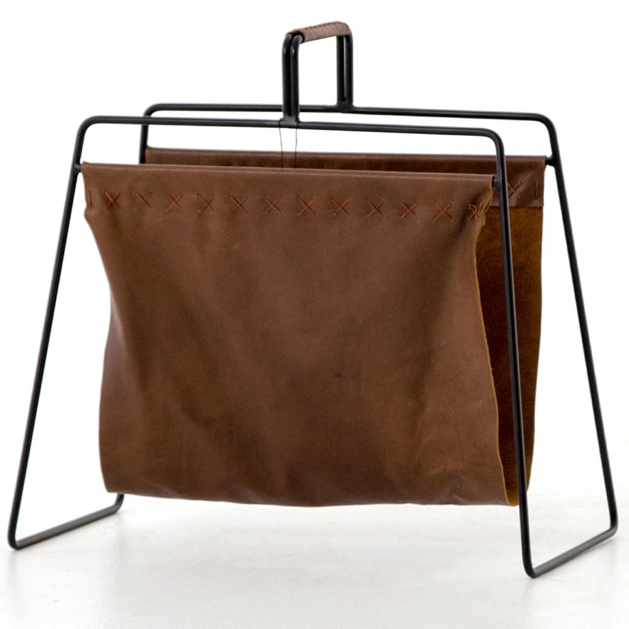 Groovy Aesop Brown Leather Magazine Rack Download Free Architecture Designs Scobabritishbridgeorg
