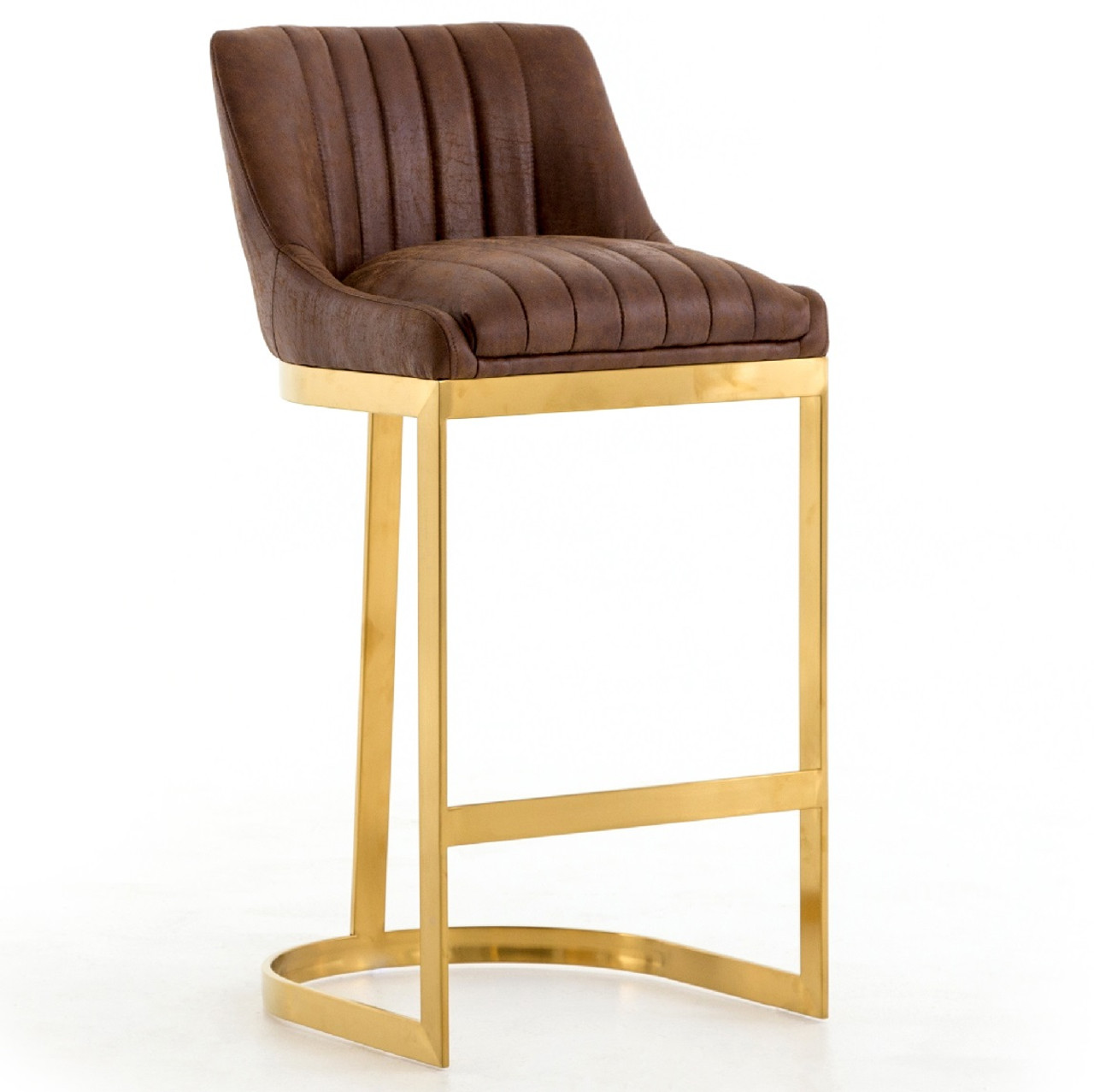 info for 4ffab 129c1 Rory Tobacco Leather + Gold Bar Stool