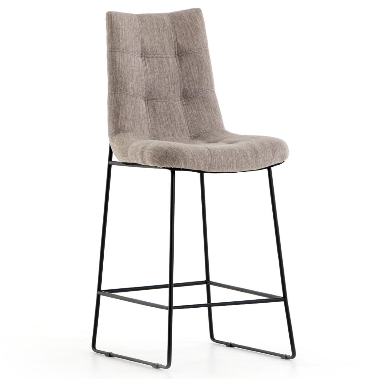 Admirable Camile Black Iron Leg Counter Stool Savile Flannel Lamtechconsult Wood Chair Design Ideas Lamtechconsultcom