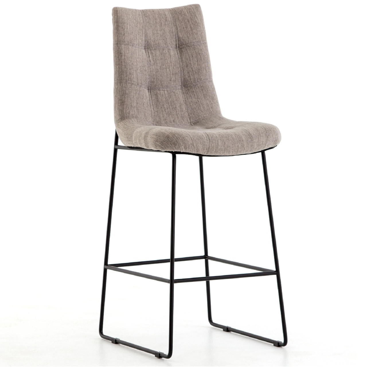 Excellent Camile Black Iron Leg Bar Stool Savile Flannel Uwap Interior Chair Design Uwaporg