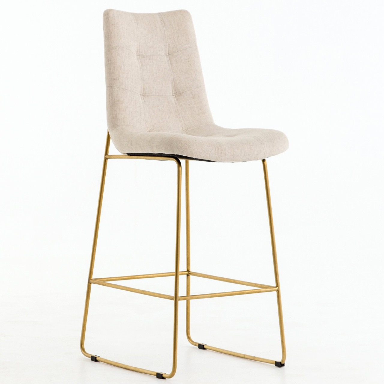 Stupendous Camile Gold Iron Leg Bar Stool Savile Flax Caraccident5 Cool Chair Designs And Ideas Caraccident5Info