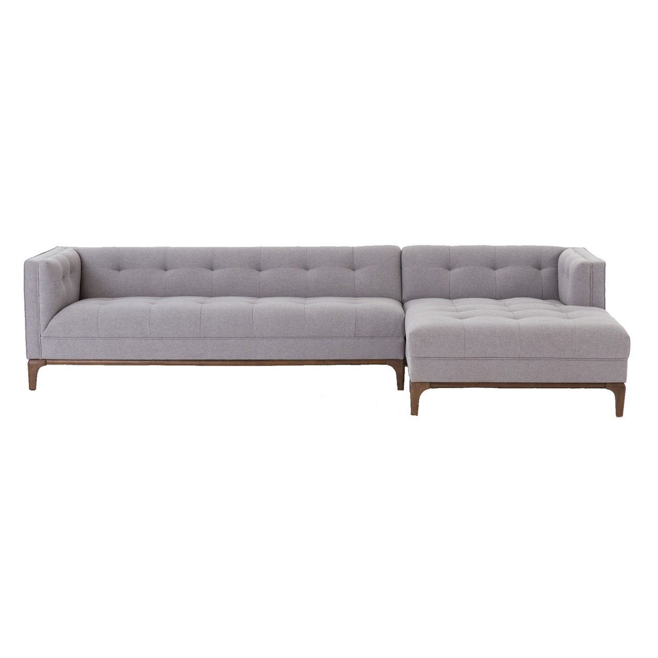 Dylan Mid Century Modern Tufted 2 Piece Sectional Sofa Zin Home