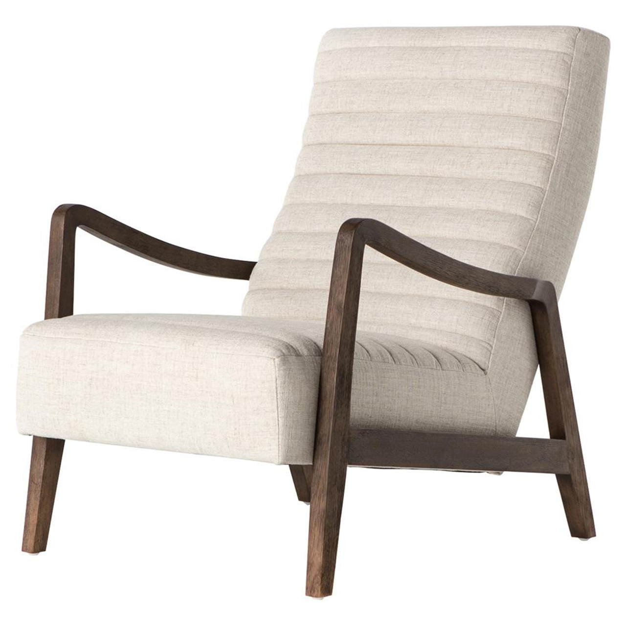 Chance modern linen upholstered lounge chairs