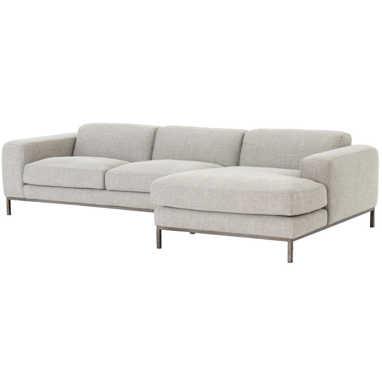 Benedict Modern Grey Fabric Right Facing Sectional Sofa 111\