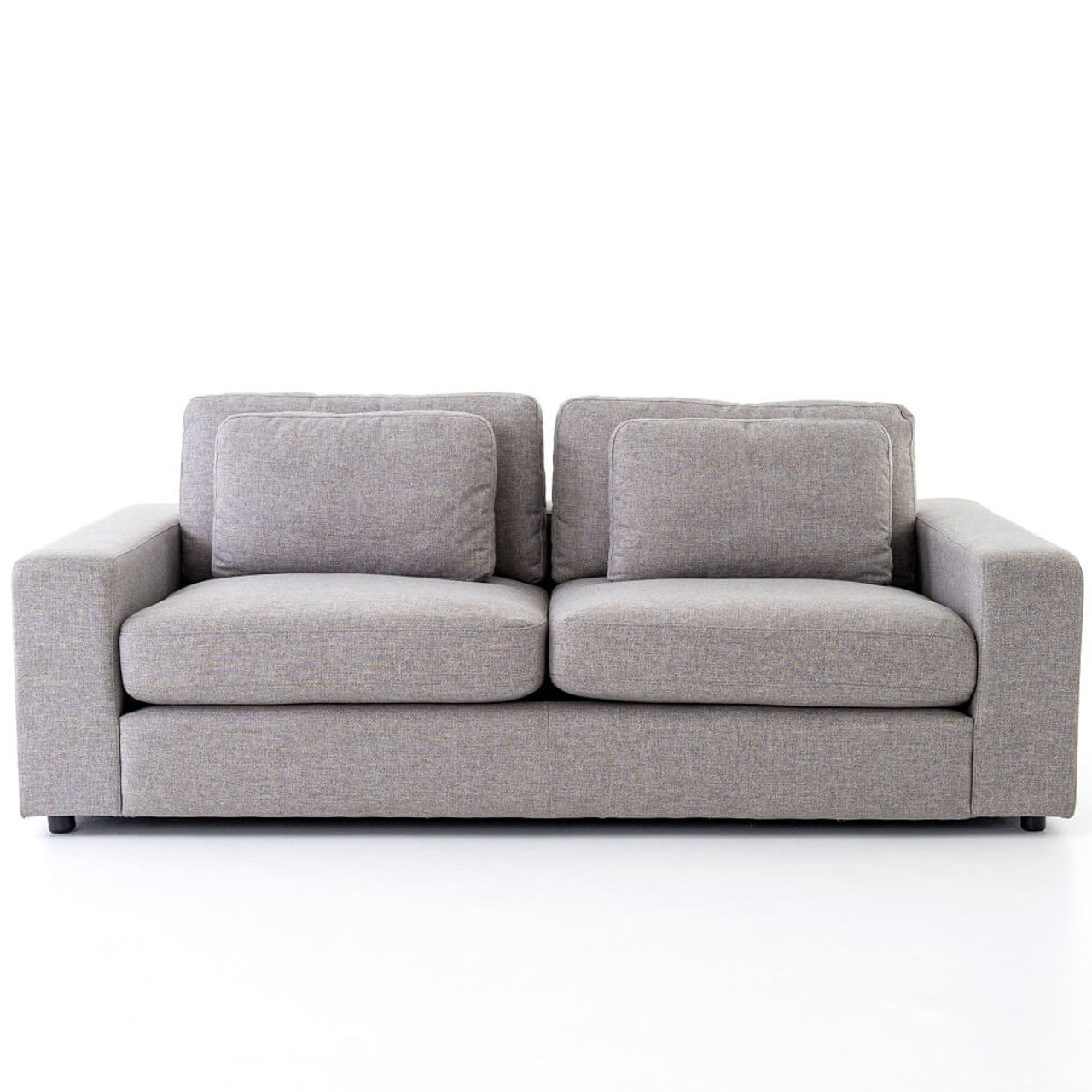 Bloor Contemporary Gray Fabric Upholstered 2 Cushion Sofa 82\