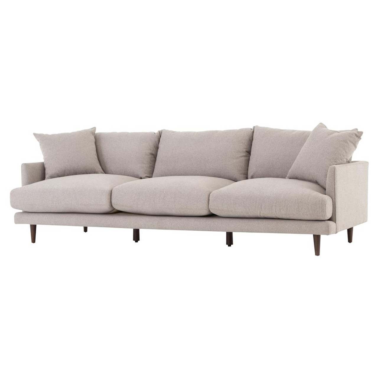 Asta Modern Scandinavian Beige Cushion Back Sofa 98\
