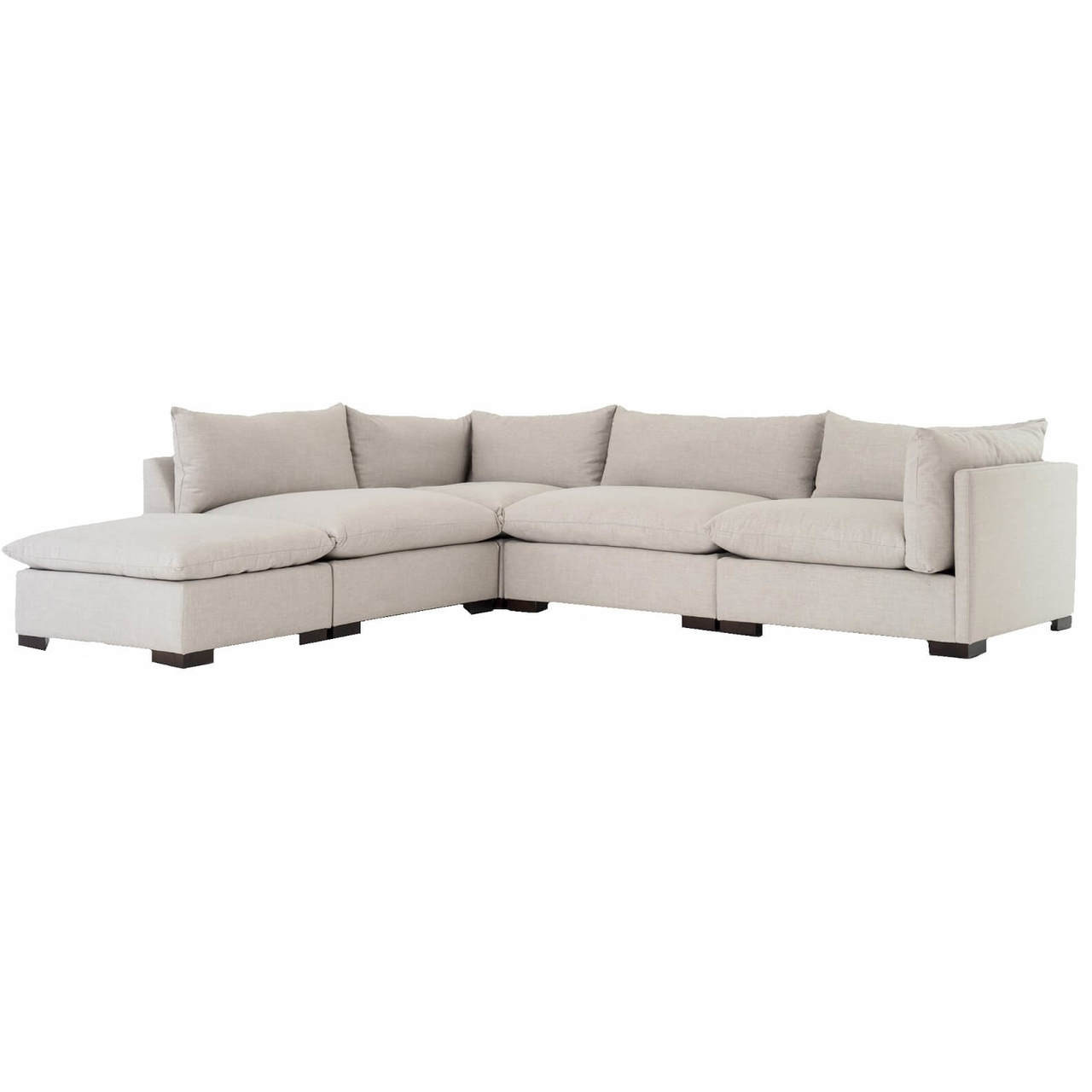Sensational Westworld Modern Beige 5 Piece Modular Lounge Sectional Sofa Uwap Interior Chair Design Uwaporg