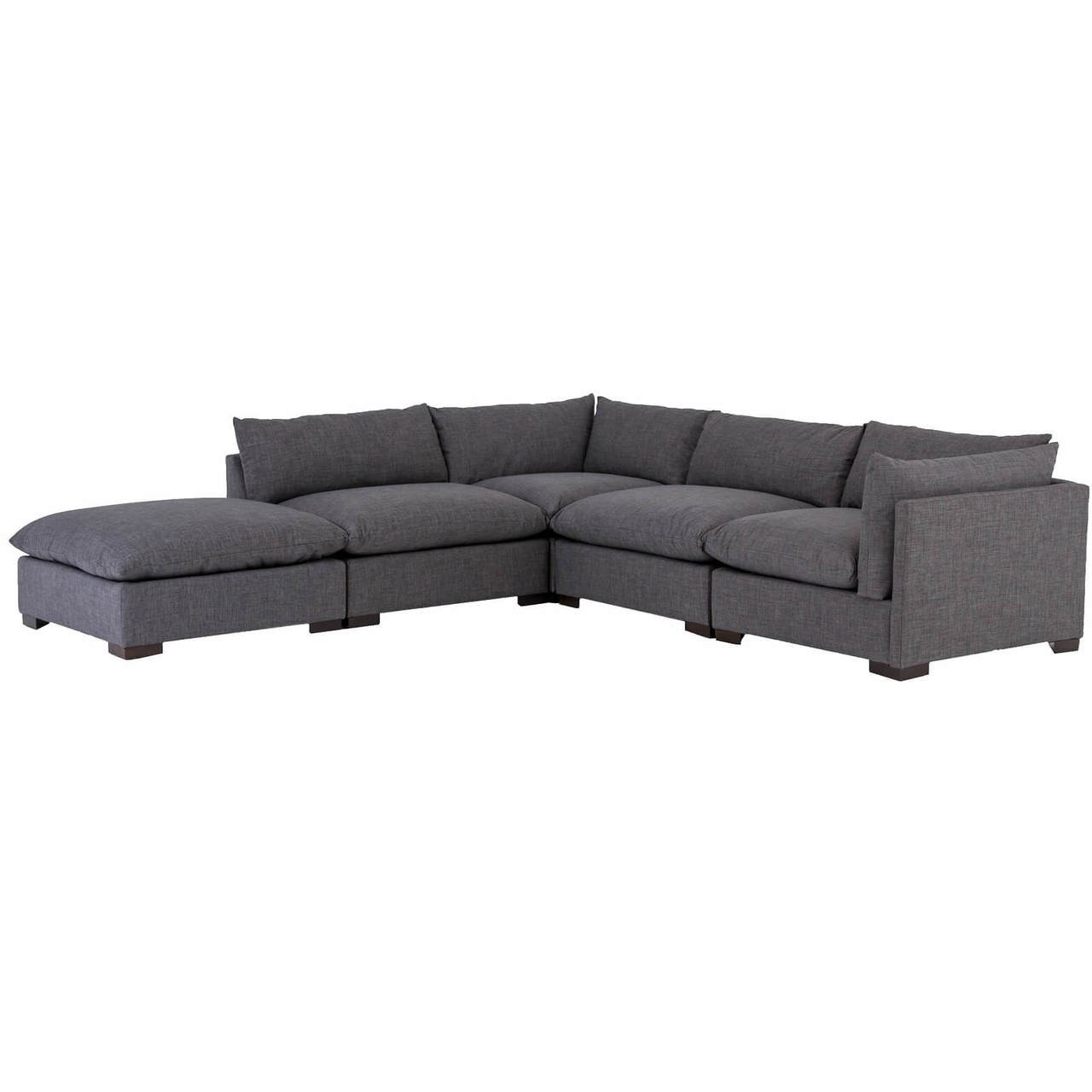 Enjoyable Westworld Modern Gray 5 Piece Modular Lounge Sectional Sofa Caraccident5 Cool Chair Designs And Ideas Caraccident5Info