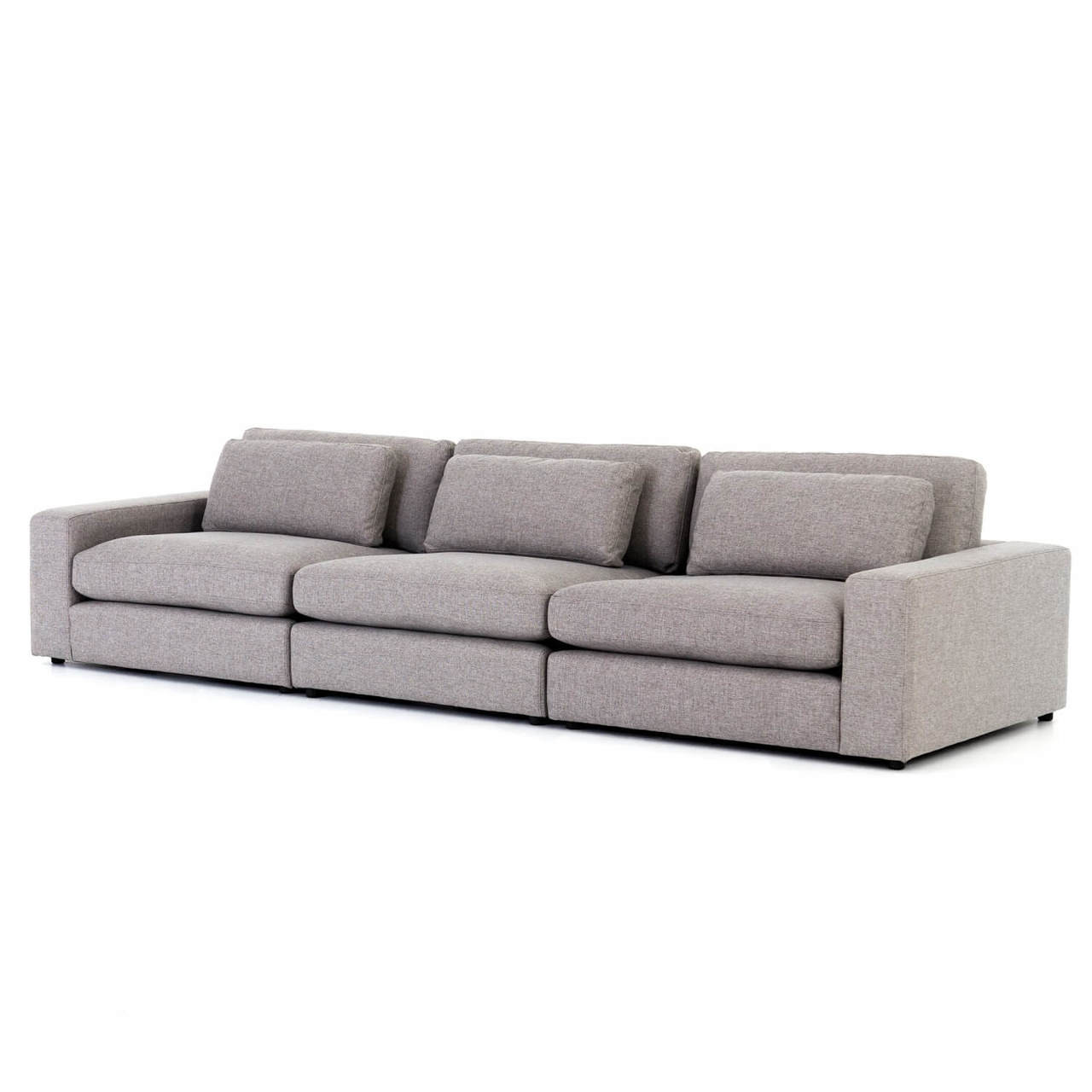 Bloor Contemporary Gray Fabric 3 Seater Large Sofa 131\