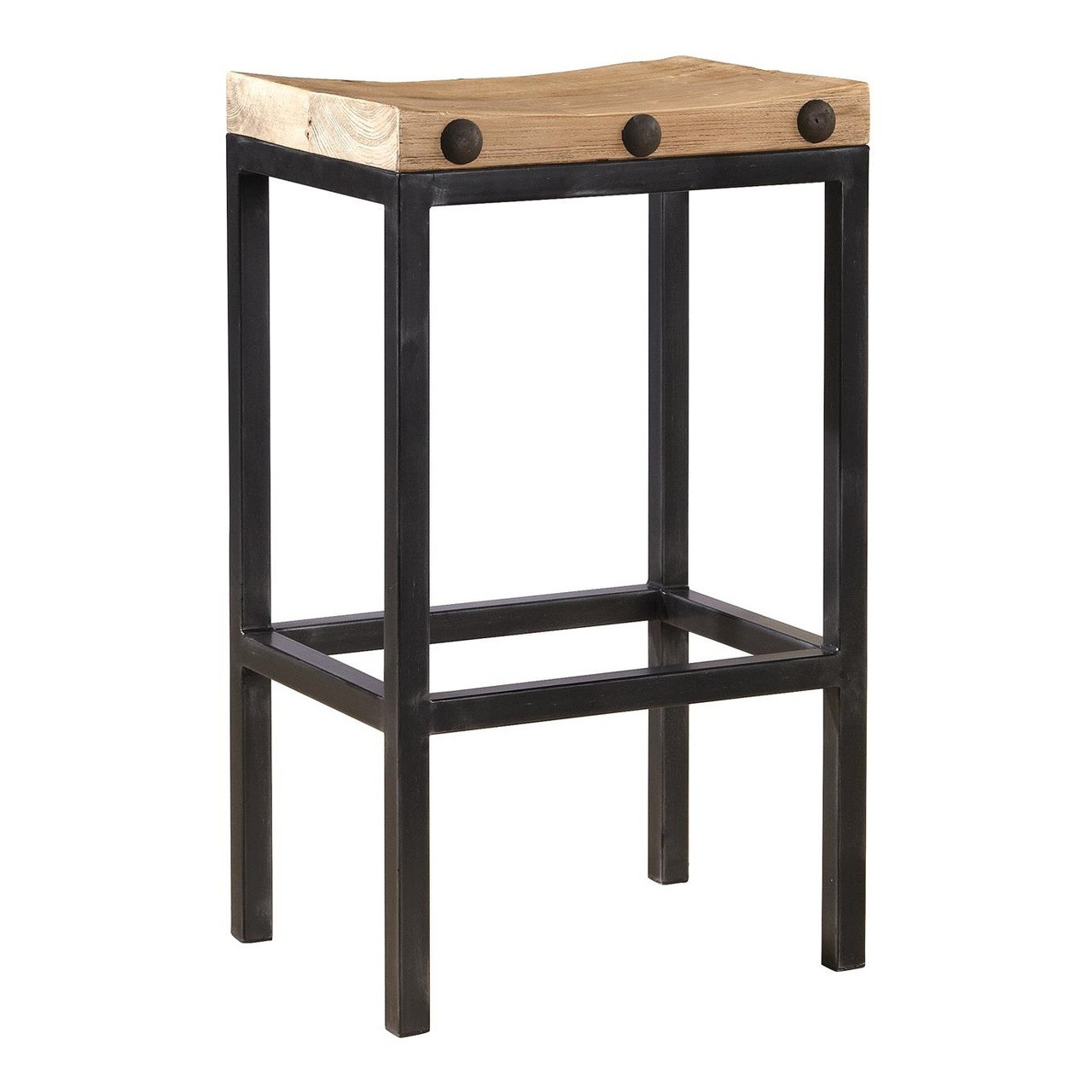 Superb Wilber Reclaimed Elm Wood And Iron Bar Stool Bralicious Painted Fabric Chair Ideas Braliciousco