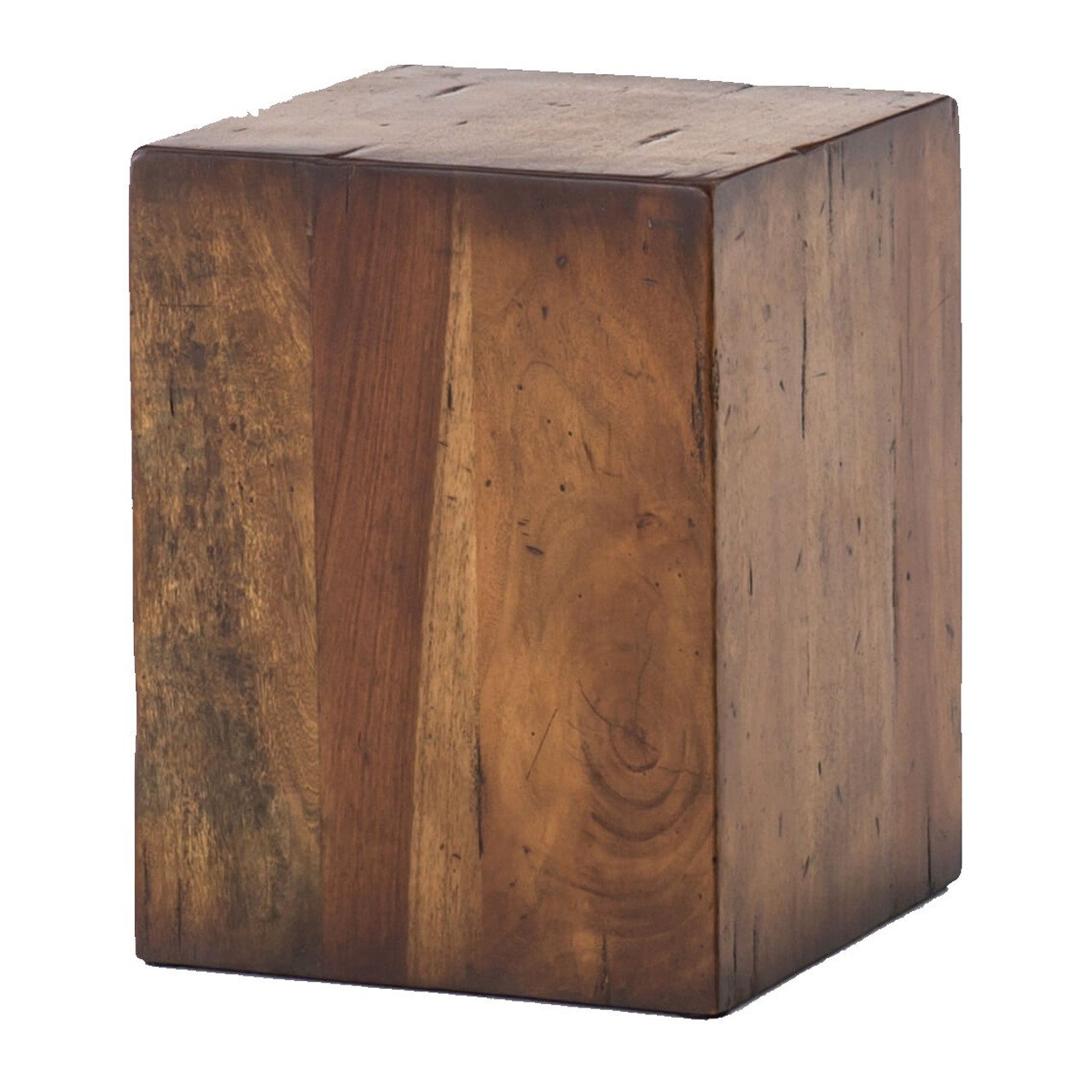 Duncan Reclaimed Wood Square Block End Table Zin Home Fourhands