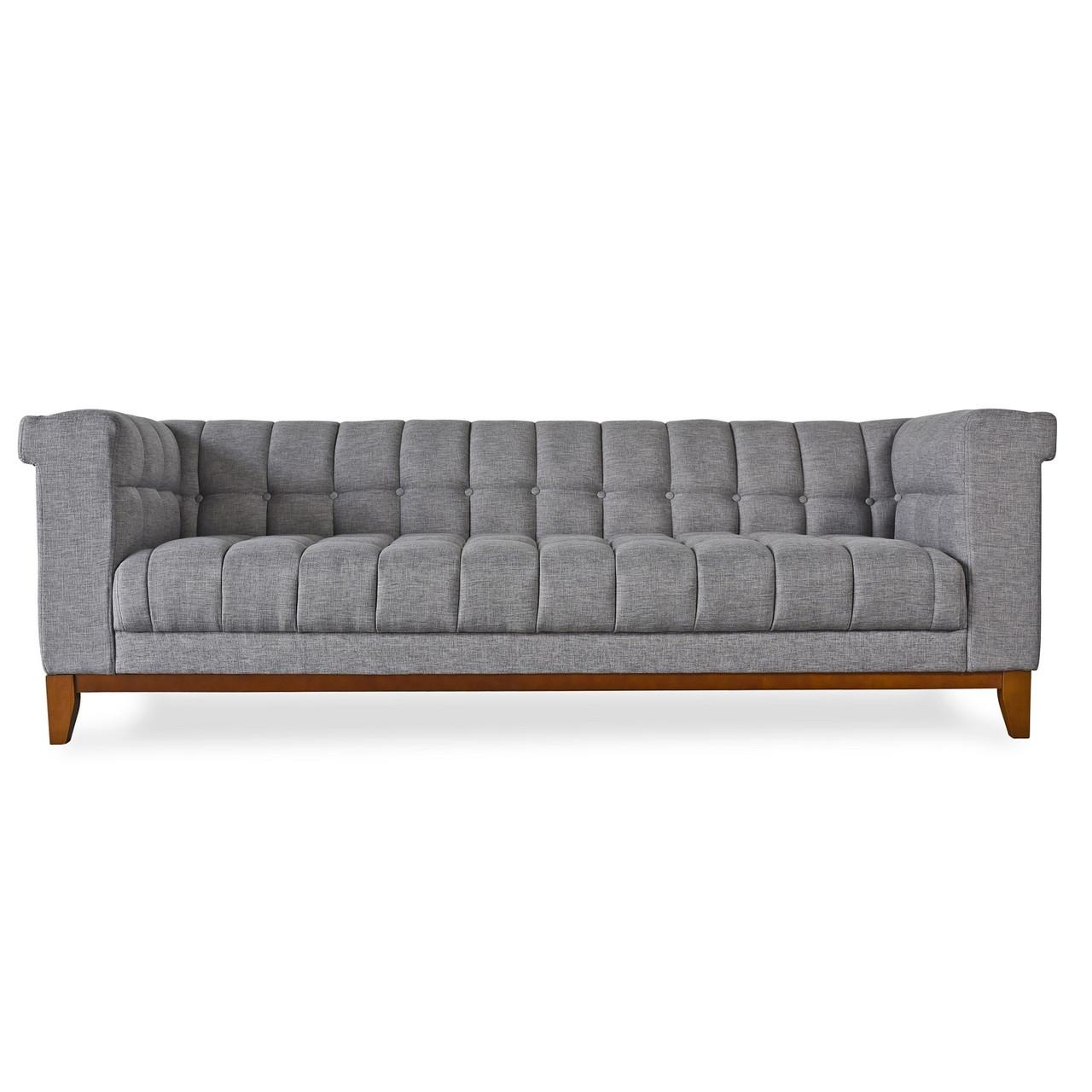 Nest modern grey linen tufted sofa zin home