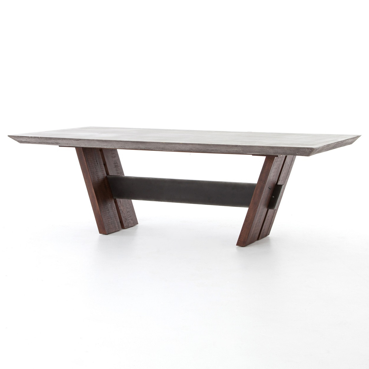 Bonham reclaimed wood and concrete top dining table 78